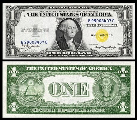 Silver Certificate Dollar Bill 1935